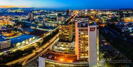 Cityscape photo of Lusaka at night by photographer Jason J Mulikita